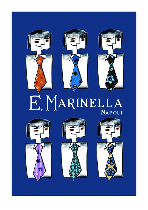 Blu Playing Cards For Marinella Naples