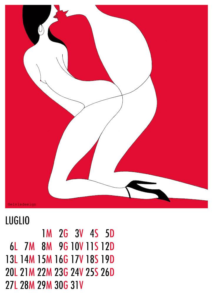 Illustration for Calendar, Year of Love