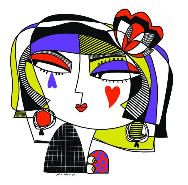 Illustration for Gelvisdesign t-shirt FacceToste Collection