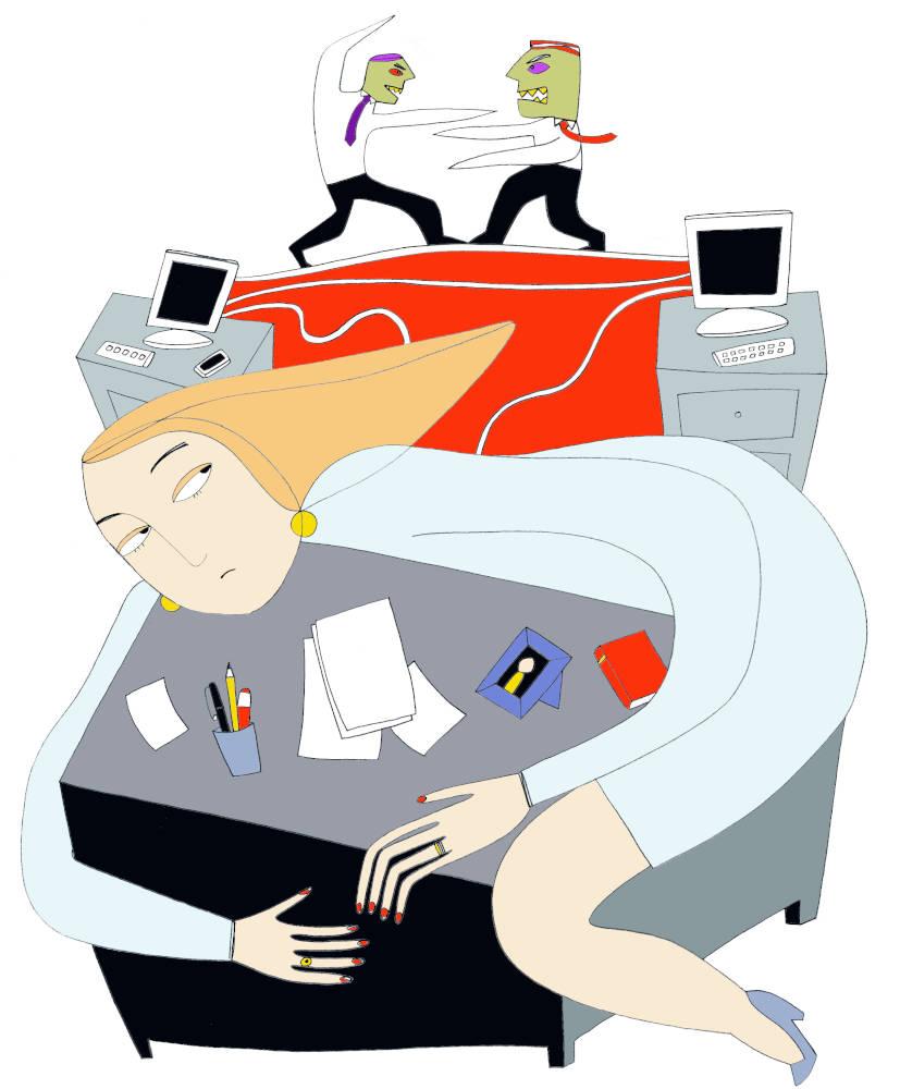 Illustration for Psicologia Contemporanea Jealousy at Work
