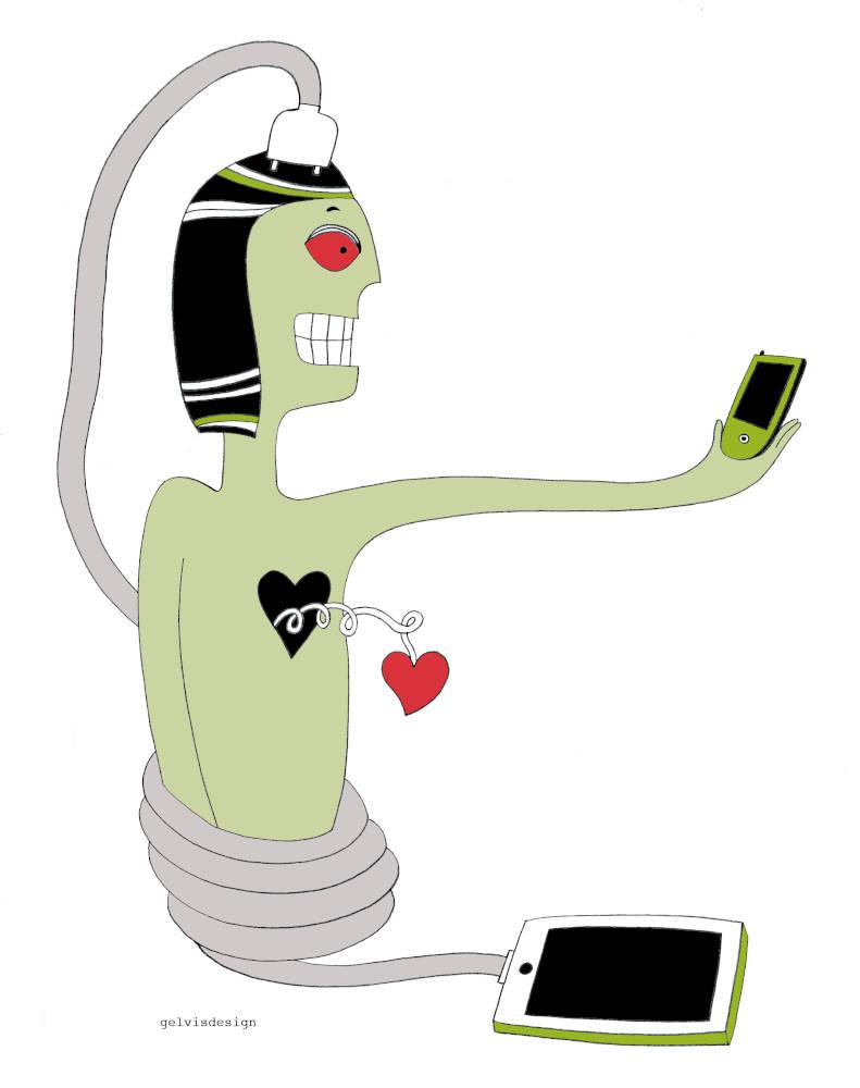 Illustration for Psicologia Contemporanea Magazine Addictions