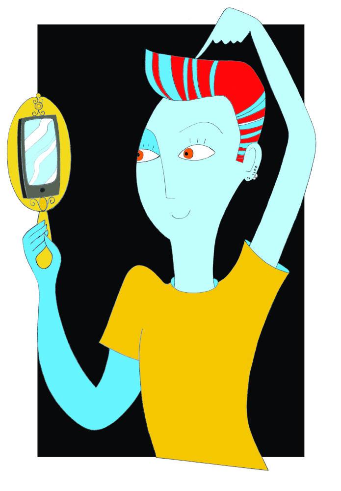 Illustration for Psicologia Contemporanea Magazine Digital Narcissism