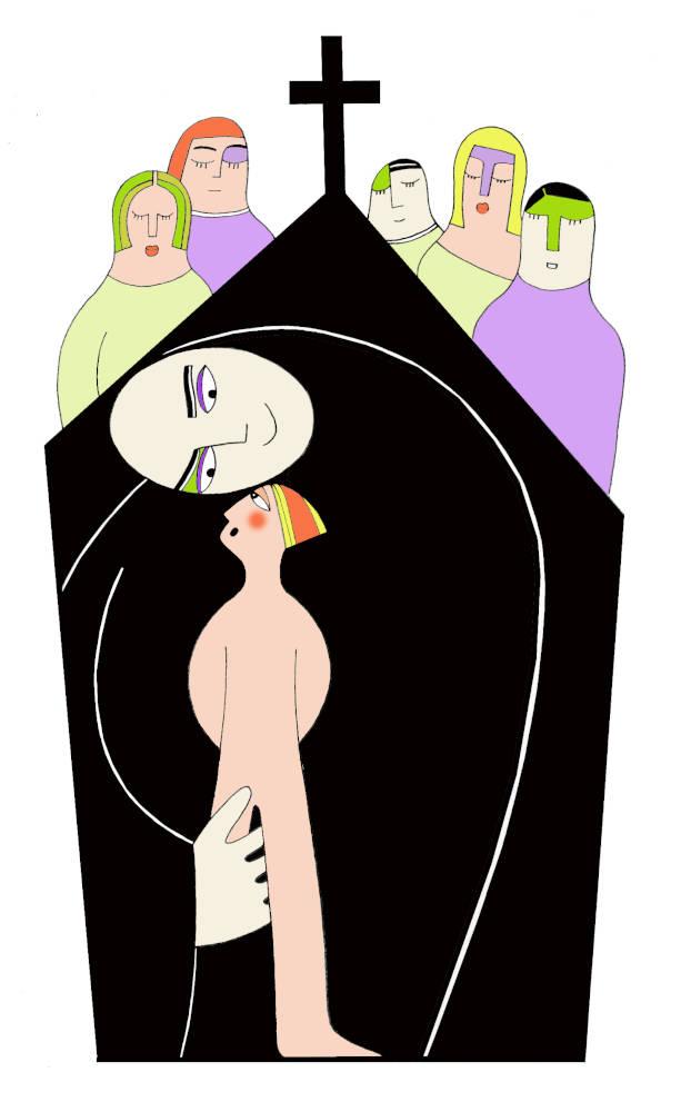 Illustration for Psicologia Contemporanea Magazine Pedophilia