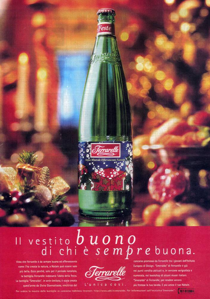 Label for Ferrarelle Water Bottles